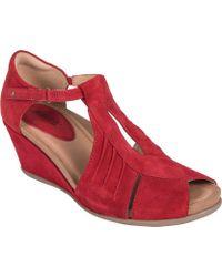 Earth Primrose Wedge Sandal - Red