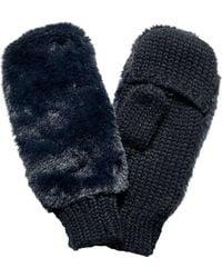 San Diego Hat Company Faux Fur Neon Glove Kng5027 - Black