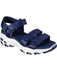 Skechers - D'lites Fresh Catch Ankle Strap Sandal - Lyst