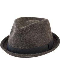 913a9b3b9e7 Lyst - Topman Straw Pork Pie Hat With Denim Trim in Natural for Men