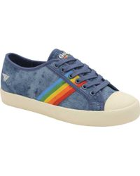 5fbac1b19ece Lyst - Tommy Hilfiger Angel Red Rainbow Trainers in Red