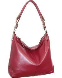 Nino Bossi Honor Leather Hobo - Red