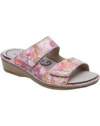 Aravon Cambridge Two Strap Slide Sandal - Pink