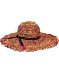 Betmar Tulum Wide Brim Hat - Red