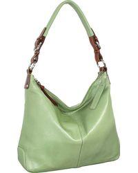 Nino Bossi Honor Leather Hobo - Green