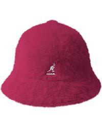 fbf7b66d9cbcf Kangol Faux Fur Casual Bucket Hat in Brown - Lyst