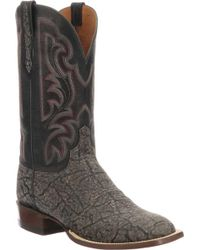 Lucchese Bootmaker Carrington W Toe Cowboy Boot - Gray