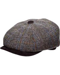 Stetson - Stw280 Harris Tweed Newsboy Cap - Lyst
