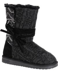 50282b0ca4d06 Lyst - Ugg Clementine Genuine Shearling Lined Ankle Boot in Black