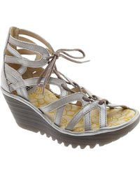 Fly London - Yuke663fly Lace Up Wedge Sandal - Lyst