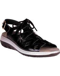 Helle Comfort Jarla Strappy Sandal - Black