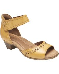 64c0305f6ae Rockport - Cobb Hill Abbott 2 Piece Ankle Strap Sandal - Lyst