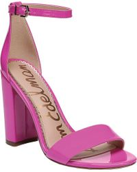 9b766a2fc04e Lyst - River Island Pink Leather Clog Sandals in Pink