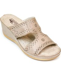 White Mountain Footwear - Felina Perforated Slide - Lyst