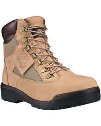 "Timberland - Field Boot 6"" Fabric And Leather Waterproof Boot - Lyst"