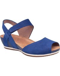 ecea7c987237 Lyst - Dansko Vera Peep Toe Sandal in Natural