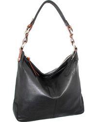 Nino Bossi Honor Leather Hobo - Black