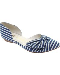 Anne Klein - Bette Two-piece Pointed Toe Flat - Lyst