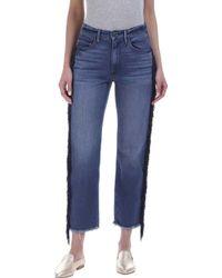 3x1 - W3 Higher Ground Cropped Jean In Spanish Fringe - Lyst