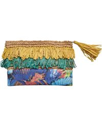 San Diego Hat Company - Clutch With Fringe And Flower Print Bsb1718 - Lyst