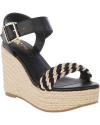 BC Footwear Dew Drops Vegan Espadrille Wedge Sandal - Black