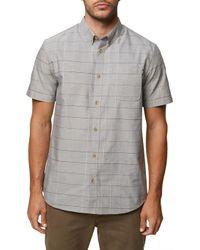 O'neill Sportswear - Gridlock Short Sleeve Shirt - Lyst