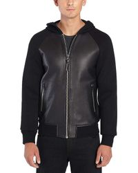 Mackage - Gibb Leather Bomber Jacket - Lyst