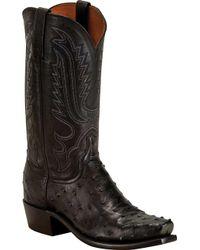 Lucchese Bootmaker Luke 7 Toe Cowboy Boot - Black