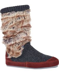 Acorn Slouch Boot - Gray