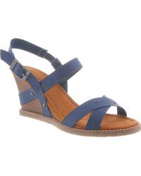 BEARPAW - Roselle Slingback Wedge Sandal - Lyst