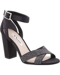 2a66e5138997 Lyst - TOPSHOP Shelly Cutout Back Platforms in Black