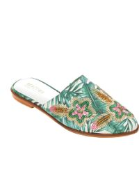 Kenneth Cole Reaction Speed Floral Flat Mule - Multicolor