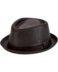 5269edf7de1 Lyst - San Diego Hat Company Men s Distressed Fedora Cth3730 in ...