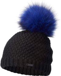 Sorel Cozy Knit Faux Fur Pom Beanie - Black