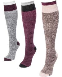 Muk Luks | Color Block Knee High Socks | Lyst