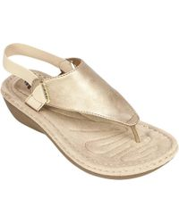 White Mountain Footwear | Carmel Thong Sandal | Lyst