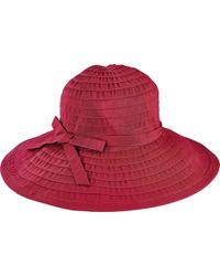 San Diego Hat Company - Ribbon Large Brim Hat W/ Bow Rbl299 - Lyst