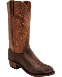 Lucchese Bootmaker - Nick R Toe Cowboy Boot - Lyst