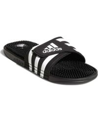 741de55047f9ea Lyst - adidas Adissage 2.0 Stripes Flip Flops in Black for Men