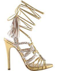 Gedebe - Corrinne Napa Leather Stiletto Heel Tassel Sandal - Lyst