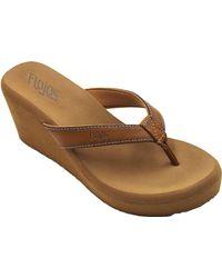 Flojos Olivia Vintage Wedge Sandal - Brown