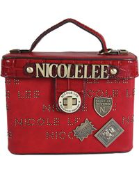 Nicole Lee - Beckett Monogram Print Mini Top Handle Bag - Lyst