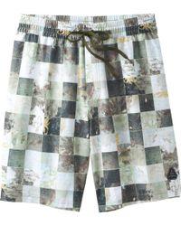 Prana Asym E-waist Board Short - Multicolor