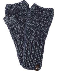 True Religion - Metallic Knit Fingerless Glove - Lyst