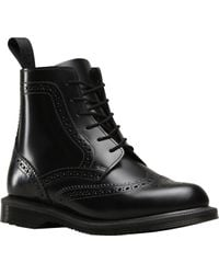 Dr. Martens - Delphine 8-eye Brogue Boot - Lyst