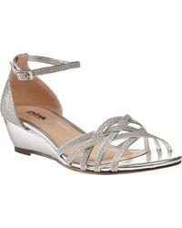 Paradox London Pink Avery Wedge Sandals - Metallic