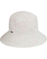 7fe5f65b0bb Lyst - Betmar Gossamer Mini Straw Hat in Blue