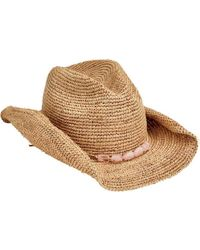 Lyst - San Diego Hat Company Womens Open Weave Cowboy Hat in White e0a2401e6890