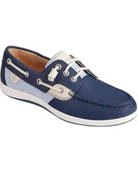 Sperry Top-Sider Songfish Mini Check Boat Shoe - Blue