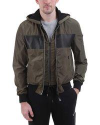 Mackage - Weston Color Block Hooded Bomber Jacket - Lyst